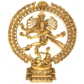 Shiva Nataraj messing 1 kleur middelmaat